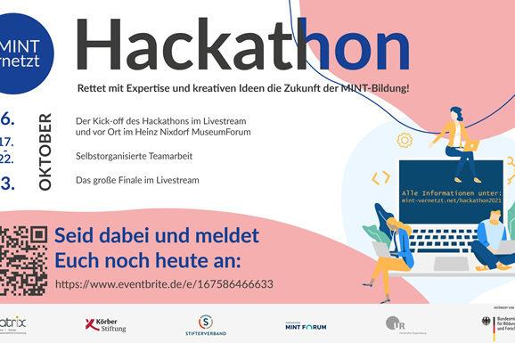 Einladung MINTvernetzt Hackathon