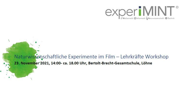 Lehrkräfte-Workshop - Naturwissenschaftliche Experimente im Film